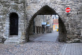 In the Old Town of Tallinn — Stock Photo