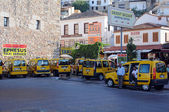 Cabstand in Kusadasi — Stock Photo