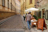 Old Street in Prague — Stockfoto