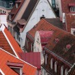 Closeup Aerial View of Old Town in Tallinn — Stock Photo #39102753