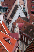 Closeup Aerial View of Old Town in Tallinn — Stock Photo