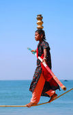 Young Indian Ropewalker — Stock Photo