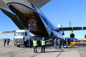 AN-124 Offloading — Stock Photo