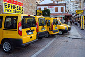 Cab-stand in Kusadasi — Stock Photo
