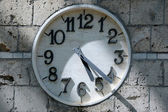 Partially Shaded Clock Face — Photo