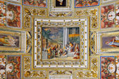 Gallery Ceiling in Vatican Museum — Stock Photo