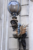 Vintage Street-light in Rome — Stok fotoğraf