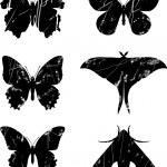 Butterfly grunge set 15 — Stock Vector #13525281
