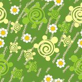 Naadloze grunge schildpad textuur 511 — Stockvector