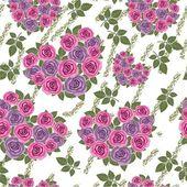 Seamless grunge flower heart texture 530 — Stock Vector