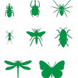 Insect set 02 — Stock Vector