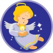 Stock Vector: Vector.Angel with candle.
