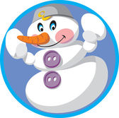 Vector. Snowman — Stock Vector