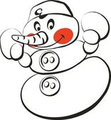 Vector. muñeco de nieve — Vector de stock
