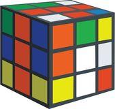 Vector. Rubik cube — Stock Vector