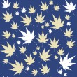 Vector seamless background: a lot of maple autumn leaves on the ground. - Stock Vector