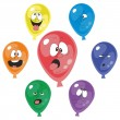 Emotion multicolor balloon set 001 — Stock Photo
