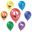 Emotion multicolor balloon set 001 — Stock Photo #24179517