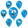Emotion blue balloon set 003 — Stock Photo