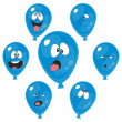 Emotion blue balloon set 003 — Stock Photo #24179521