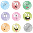 Emotion smiles multicolor set  001 - Stock Photo