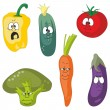 Emotion cartoon vegetables set 001 - Stock Photo