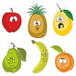 Emotion cartoon fruits set 001 - Stock Photo