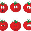 Vector.Emotion cartoon tomato set - Stock Vector