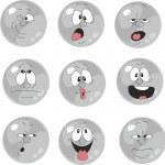 Set of emotional gray balls — Stock Vector #24642861