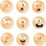 Set of emotional orange balls — Stock Vector #24642875