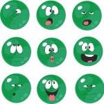 Set of emotional green balls — Stock Vector #24642933