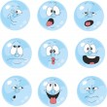 Set of emotional blue balls — Stock Vector #24642943