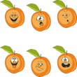 Emotion cartoon peach set — Stockfoto
