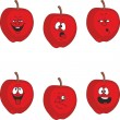Emotion cartoon red apple set  — Stock Photo