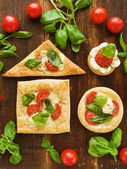 Puff-pizzas — Stock Photo