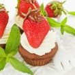 Strawberry cupcakes — Stock Photo #29650979