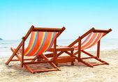 Two Beach Chairs — Stock Photo