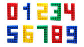Lego Digits Set Isolated — Stock Photo