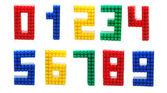 Lego Digits Set Isolated — Stockfoto