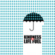 ストックベクタ: Kindness is Life Fuel