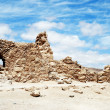 Ruins of ancient fortress Massada — Stock Photo
