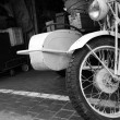 Royalty-Free Stock Photo: Old white motorcycle