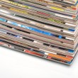 Magazines stack — Stock Photo #23531253