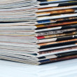 Magazines stack — Stock Photo