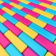 Abstract background pavement made from colorful shining  boxes — Stock Photo