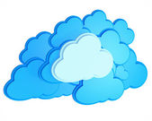 3d cloud computing icon on a white background — Stock Photo