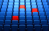 Auditorium with reserved seats — Stock Photo