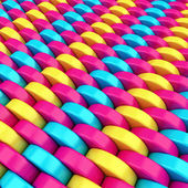 Abstract shining background made from colorful shining plastic c — Stock Photo