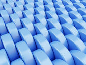 Abstract blue background made of shining plastic cylinder — Stock Photo