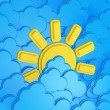 Royalty-Free Stock Photo: Sun And Clouds   / weather forecast